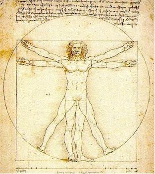 The Ratio, as drawn by Leonardo da Vinci.
